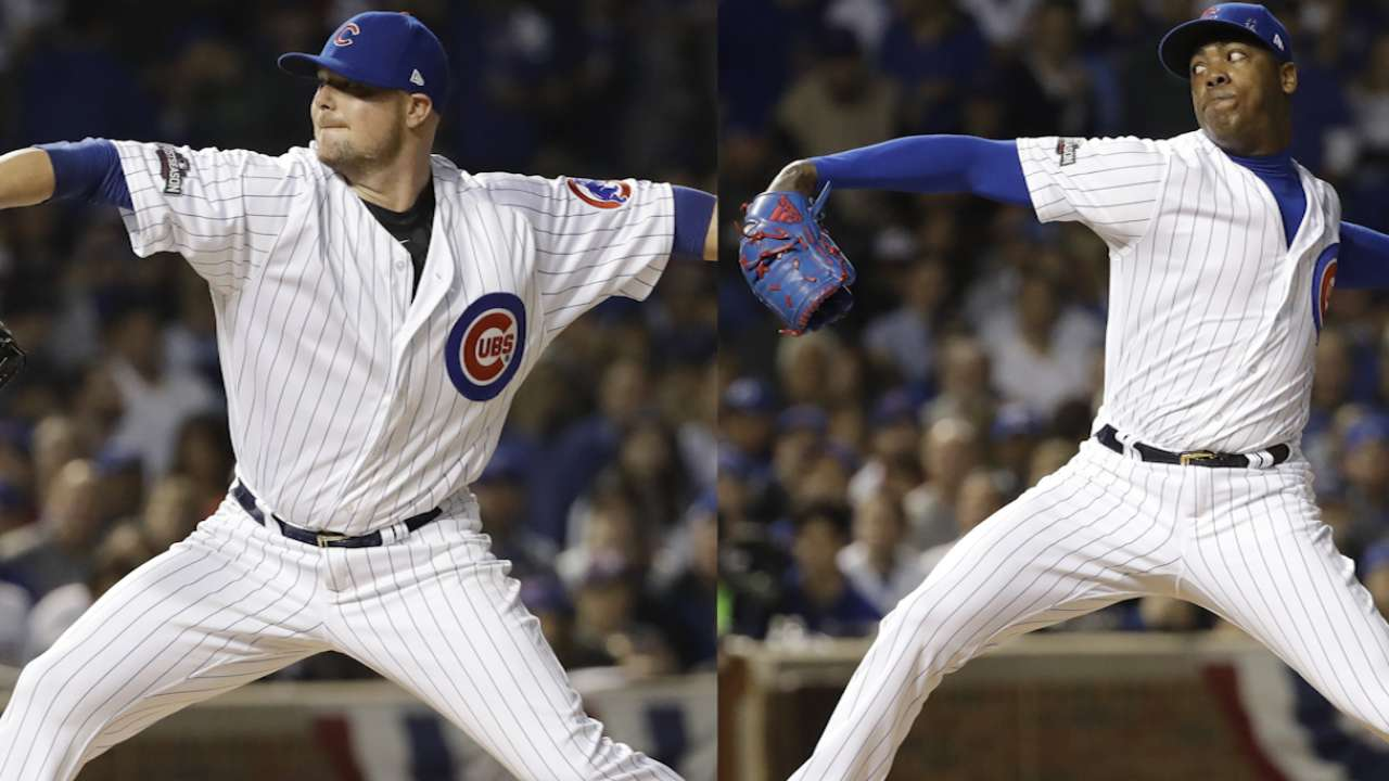 Maddon talks using Chapman early
