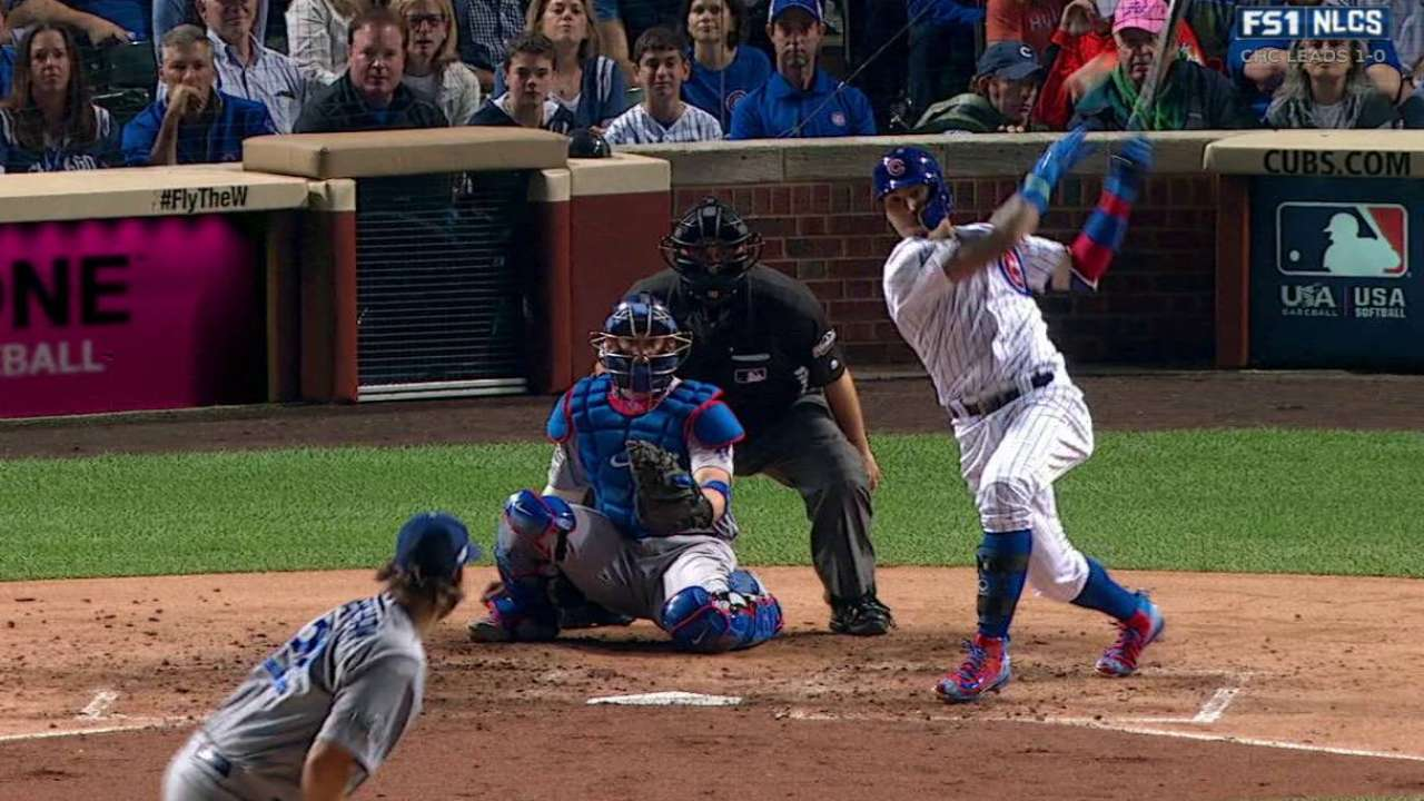 Baez gets Cubs' first hit