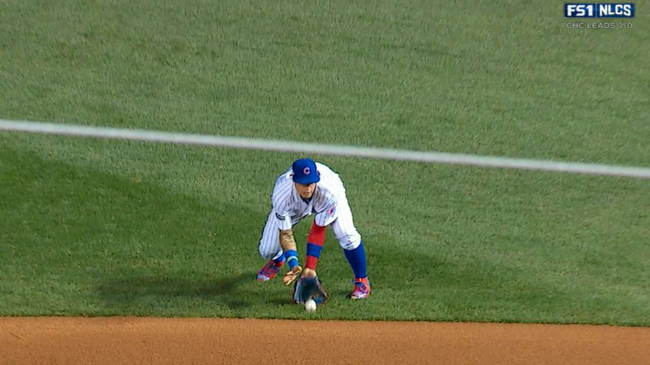 Baez adds crafty double play to highlight reel