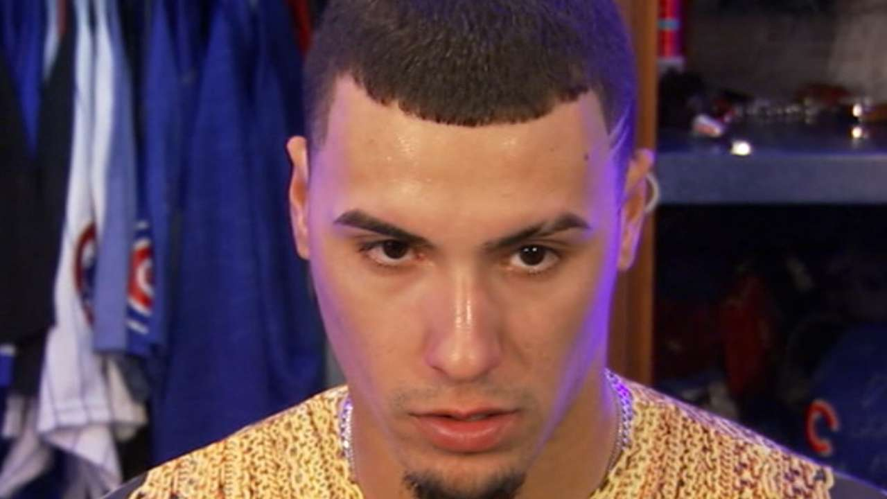 Baez on heads-up double play