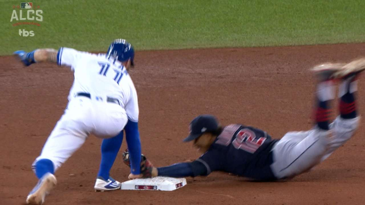 Pillar swipes second base