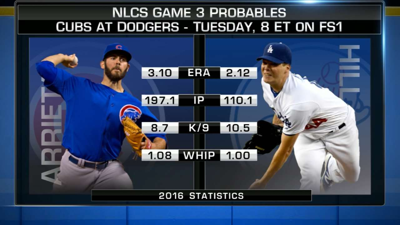 NLCS Game 3 starting lineups: Cubs vs. Dodgers