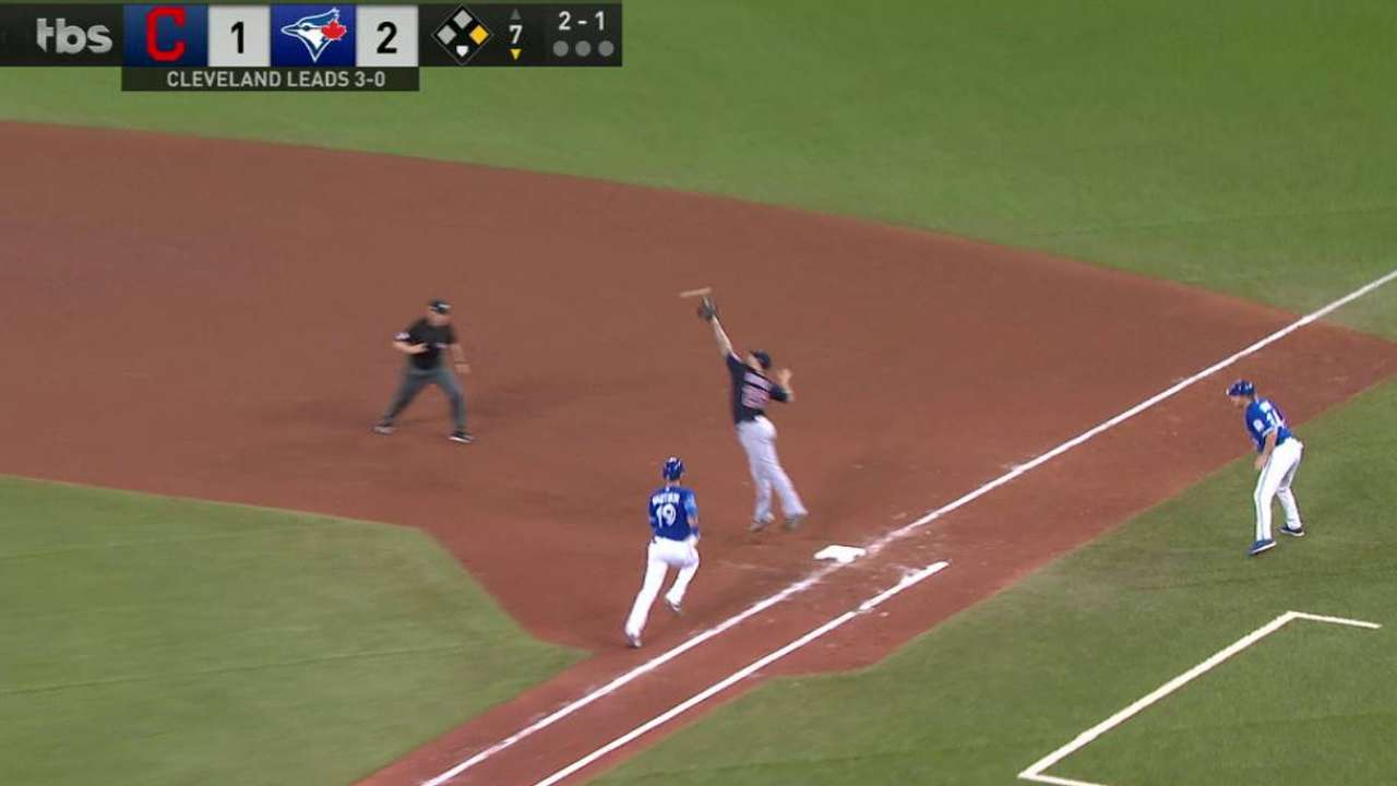 Bautista reaches on an error
