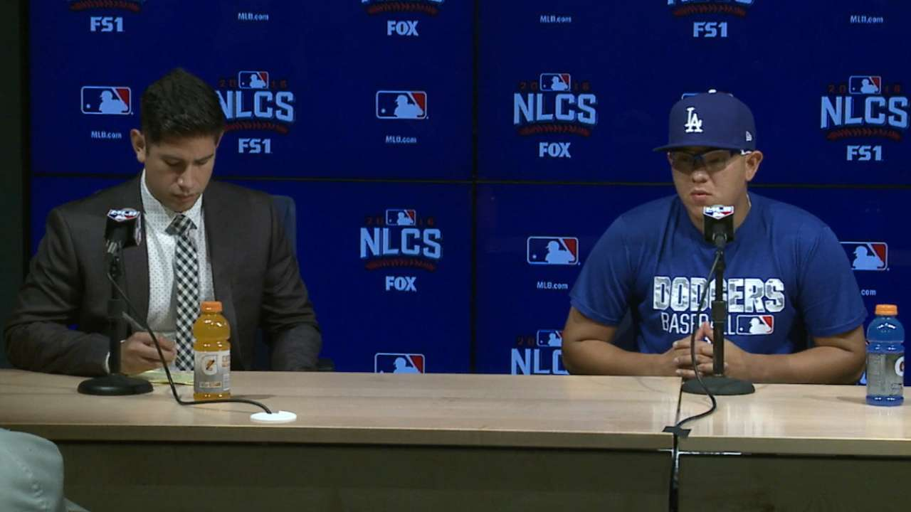 Urias on preparation for Game 4