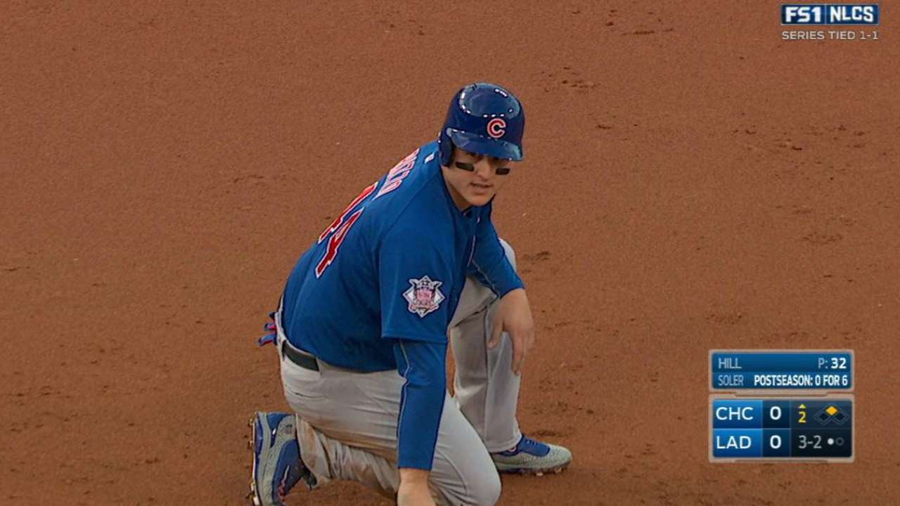 Rizzo swipes second base