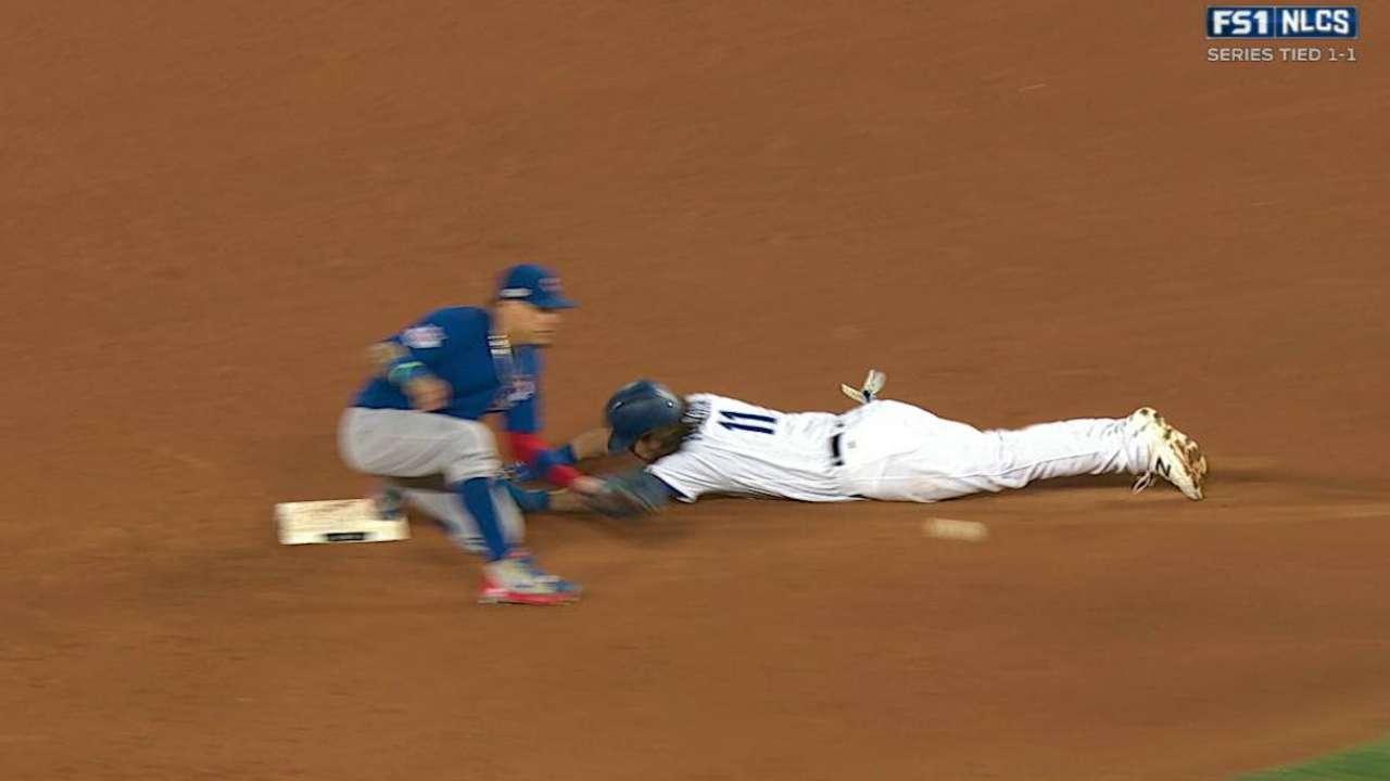 Reddick steals second base