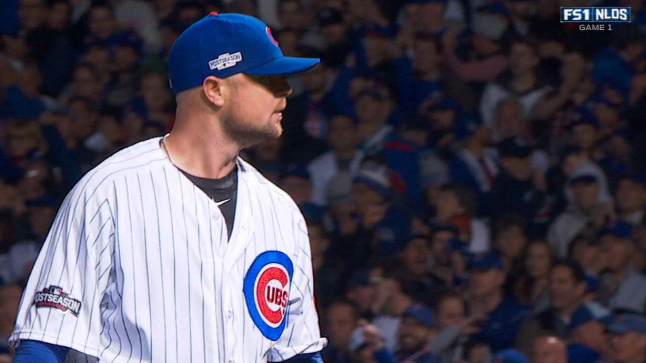 Lester on pitching in LA