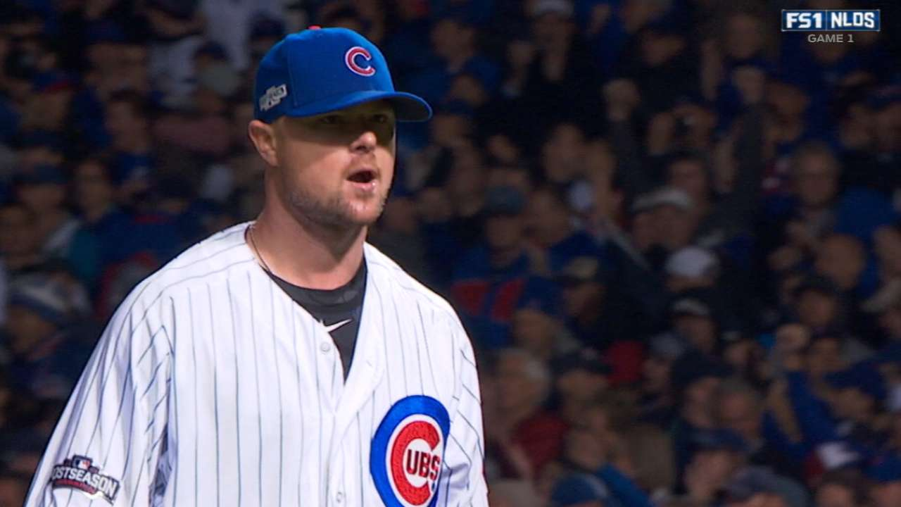 Maddon on Lester taking the hill