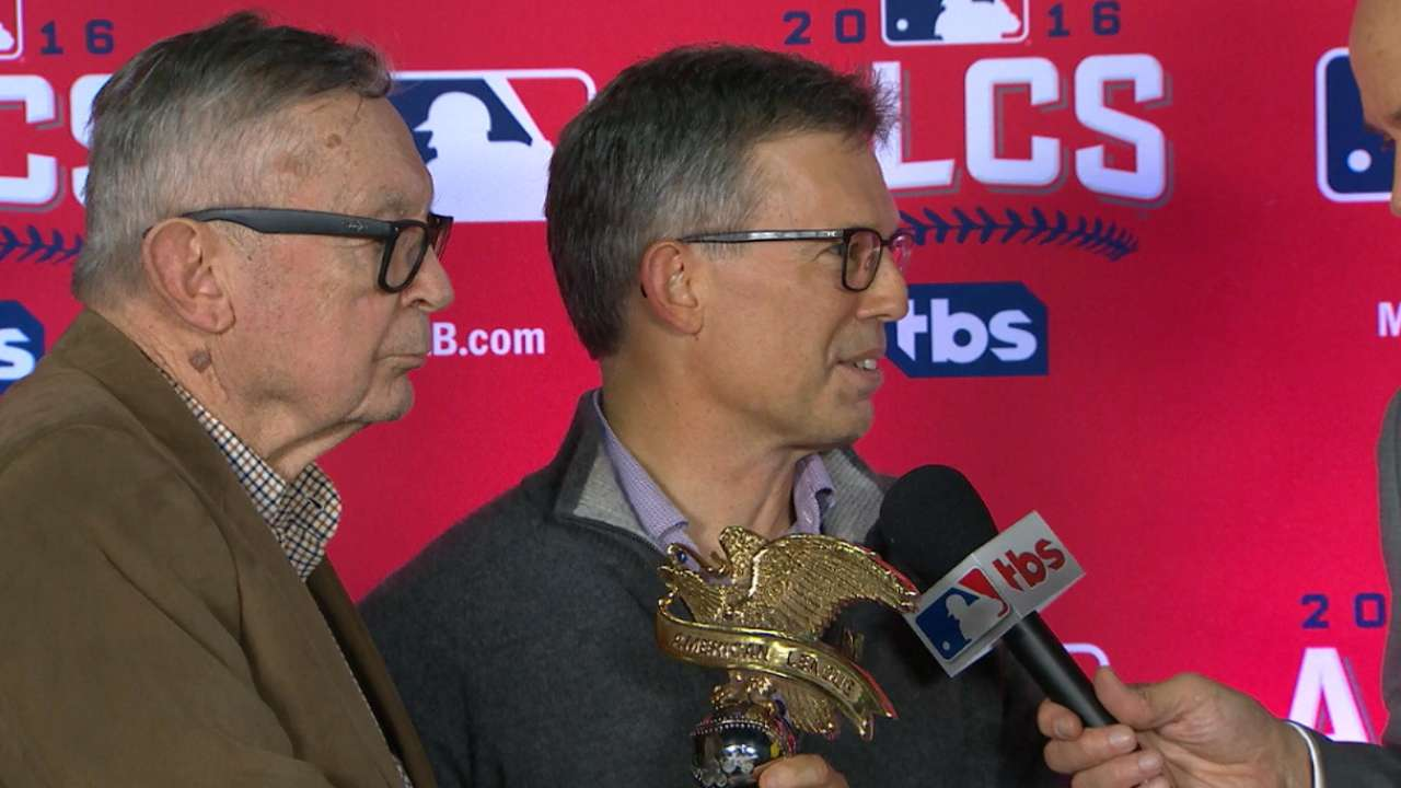 AL trophy presentation