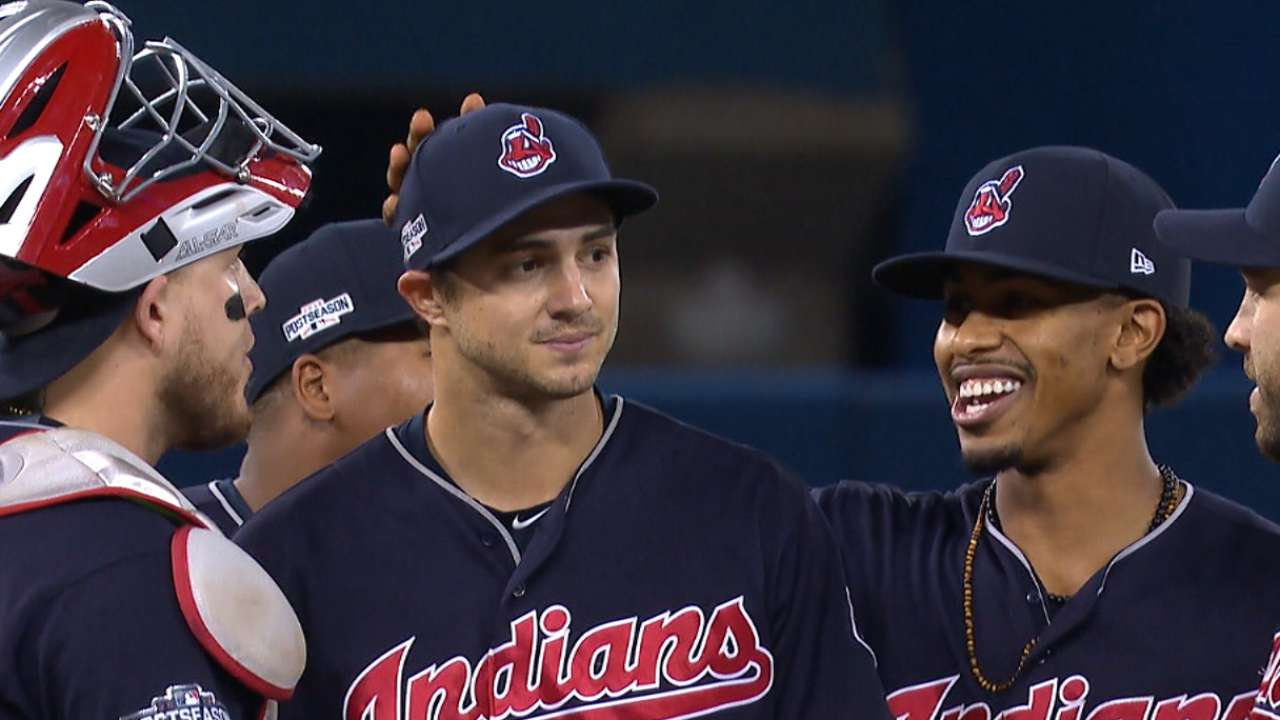 Indians clinch behind pitching