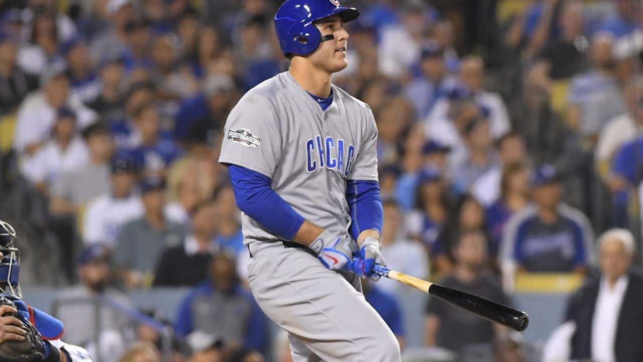 Rizzo uses Szczur's bat, sparks Maddon's memory