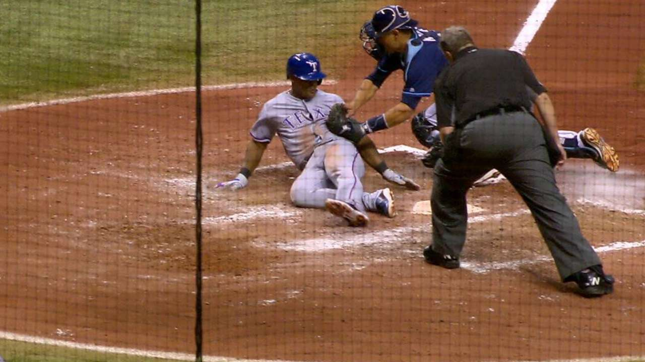 6th-inning play turning point in Rangers-Rays