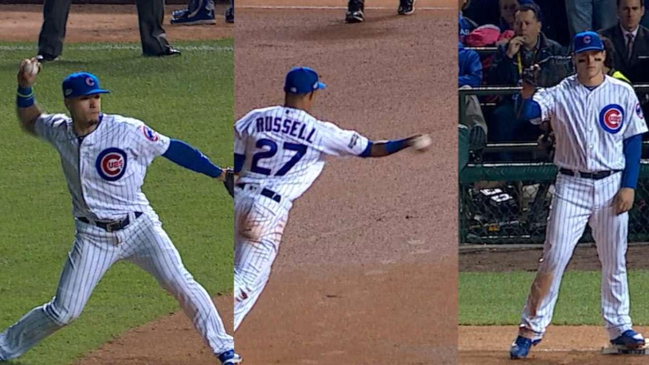 Chapman, Baez double up Dodgers