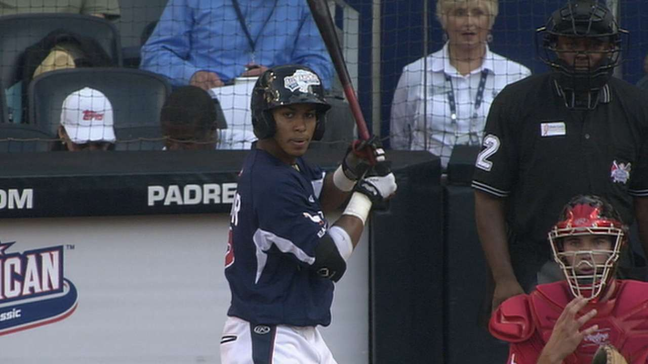 Lindor's triple in the 3rd