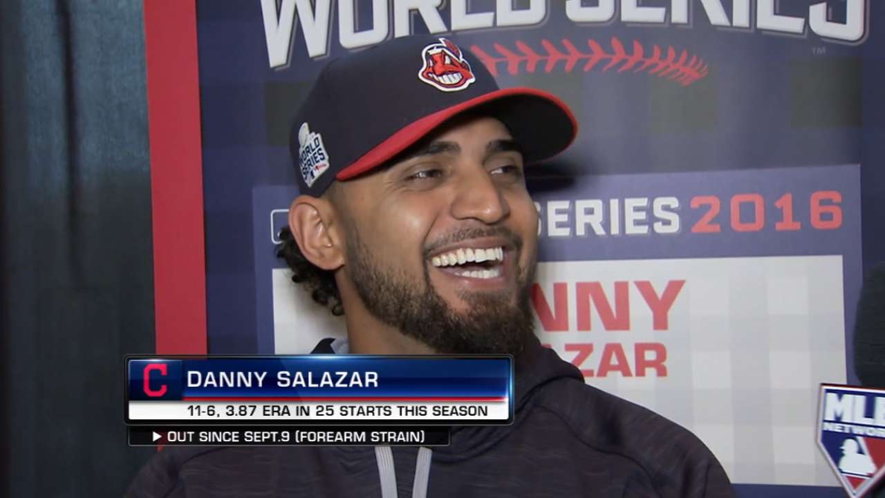 Indians set roster for World Series vs. Cubs