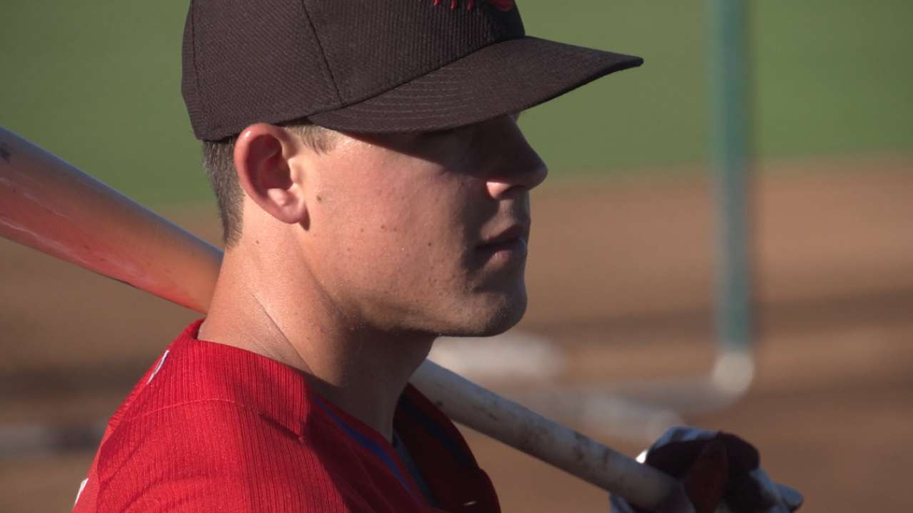 Phils' Kingery dazzles with glove, bat in Fall League victory