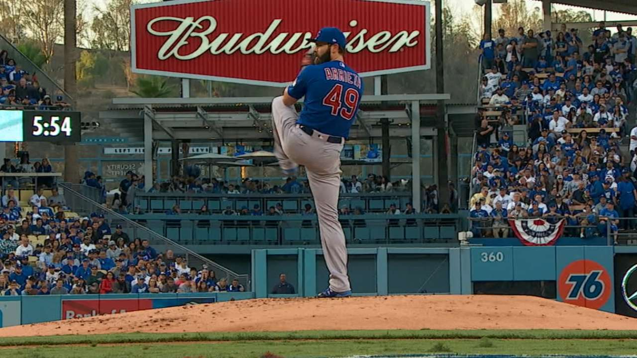 Cubs to rely on Arrieta to knot WS in Game 2