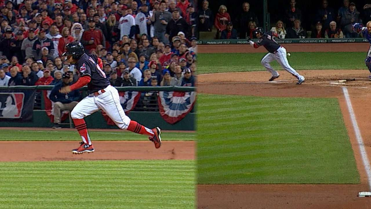 Lindor's steal helps Indians strike first in Game 1