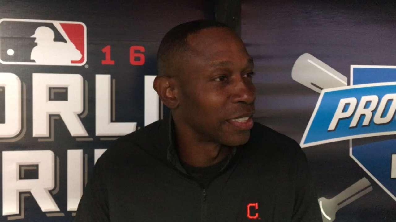 Lofton's first pitch gets World Series underway