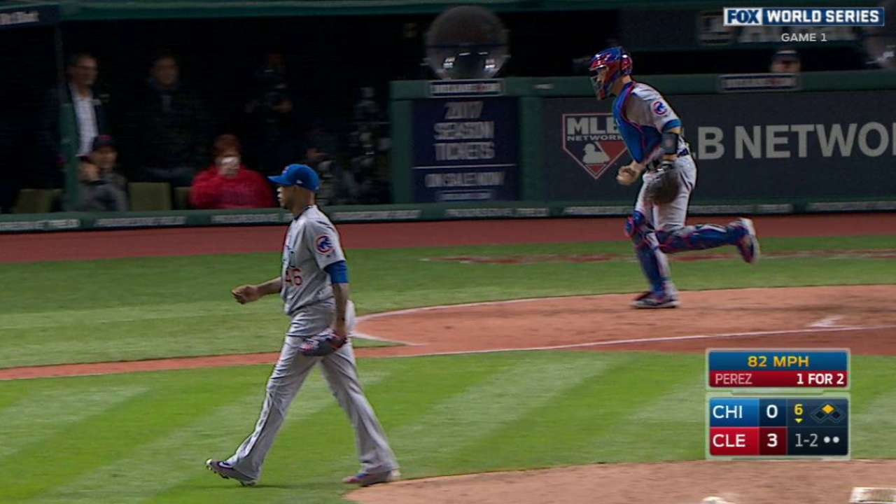 Strop strikes out Perez