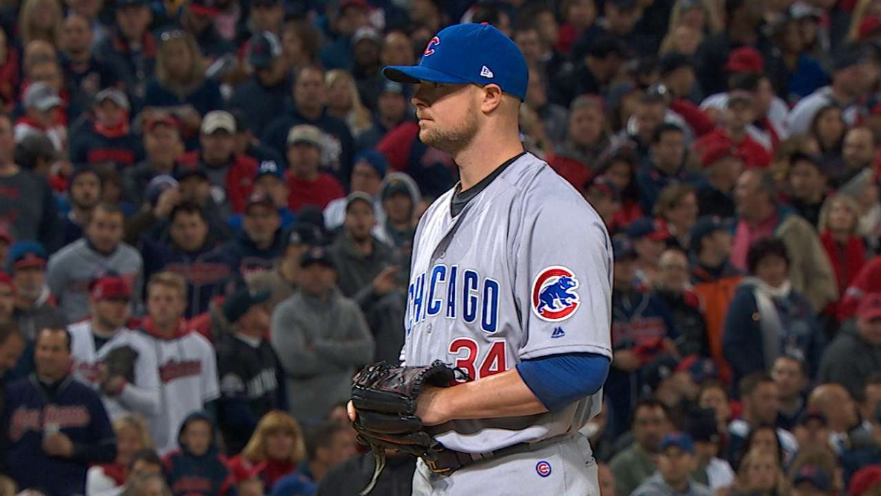 Lester laments early wildness in Game 1 loss