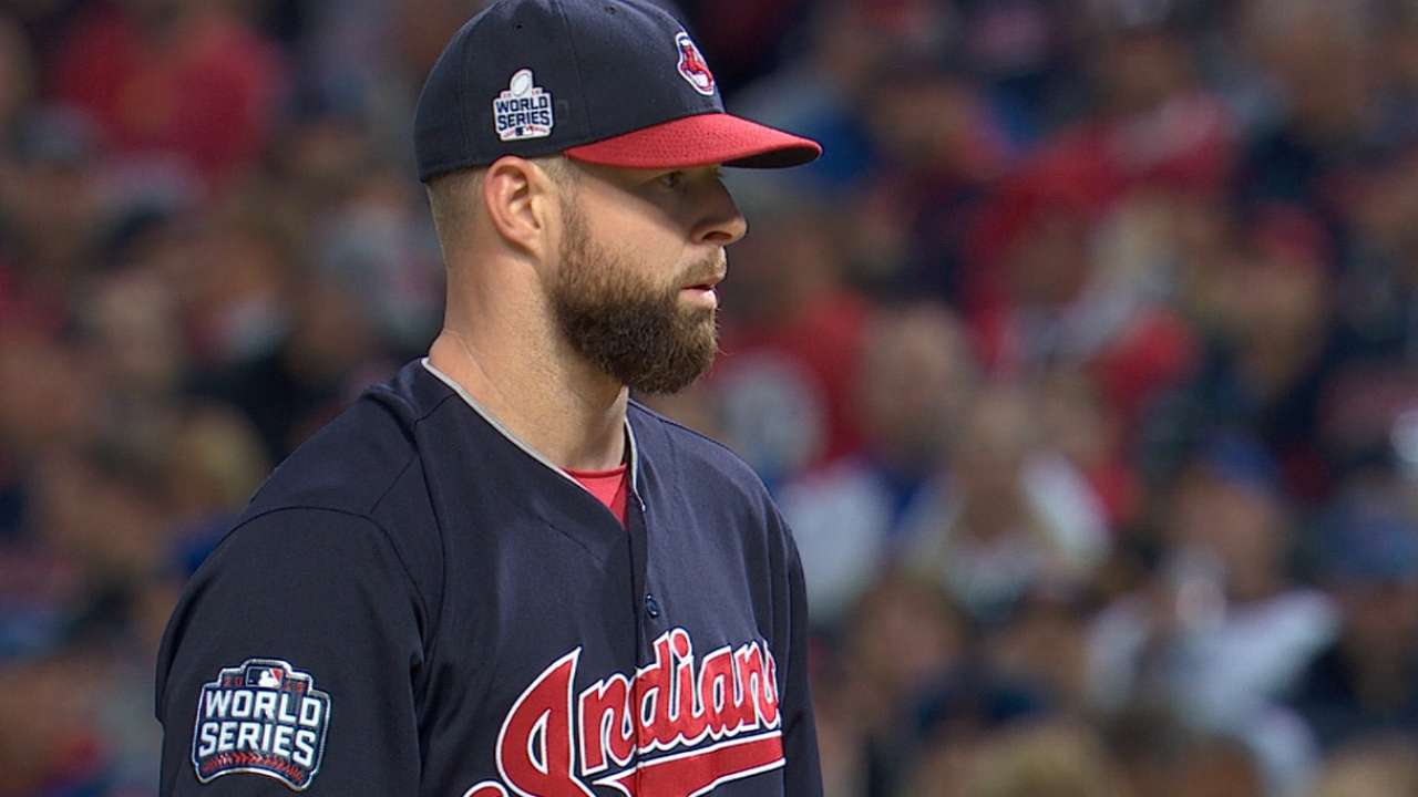 Kluber fans eight over three