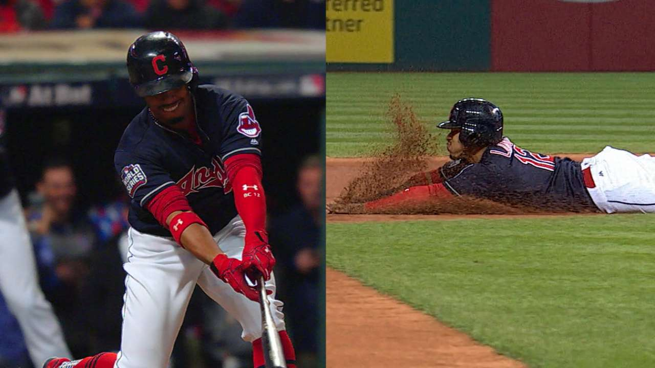 Lindor shows no signs of slowing for Tribe