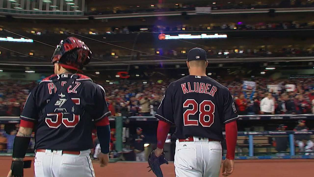 Assault by battery: Perez and Kluber combined for 6 shutout innings, 15 strikeouts and two home runs