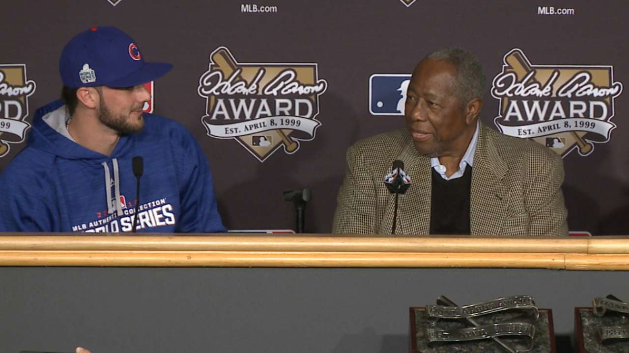 Bryant on Hank Aaron Award