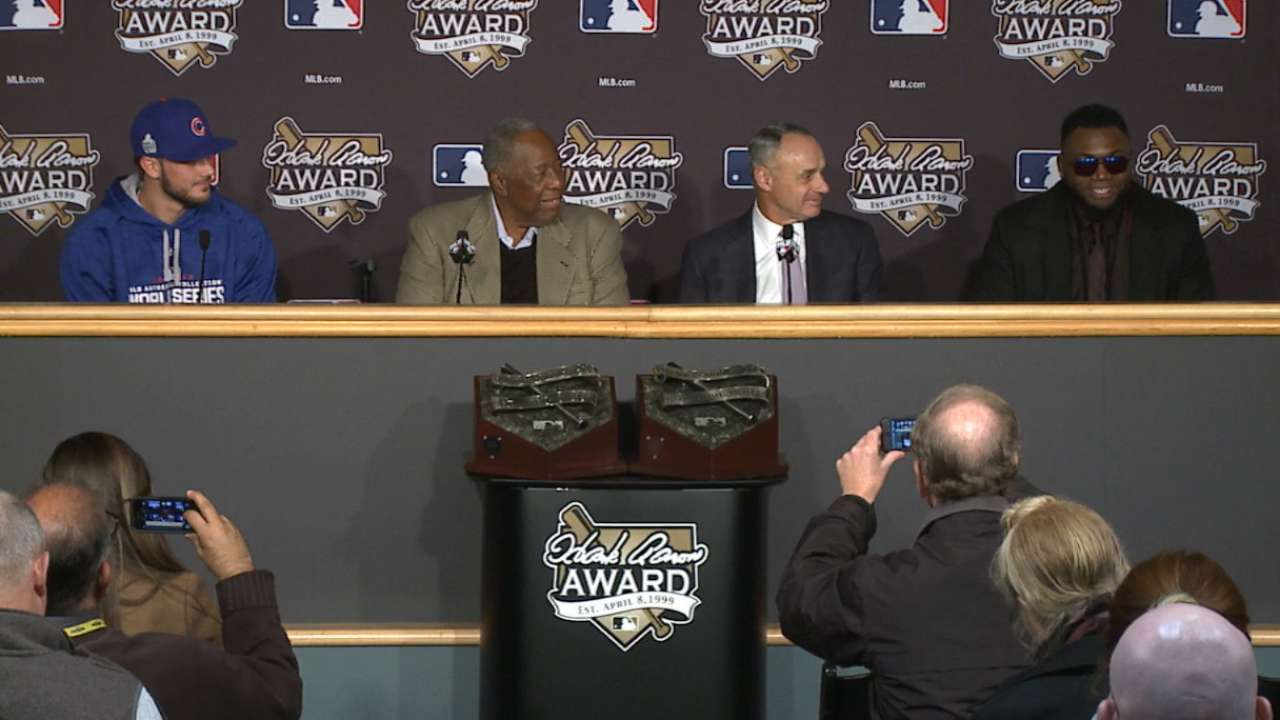 Ortiz on Hank Aaron Award