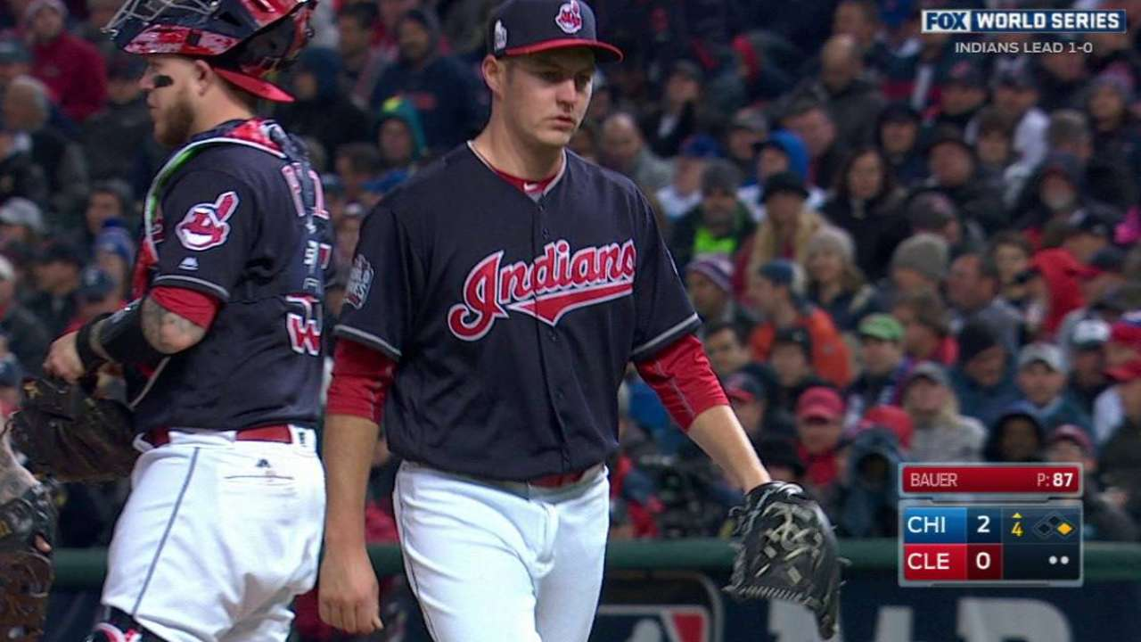 Bauer leaves the game