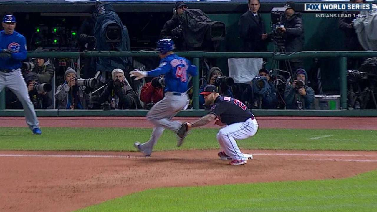 Contreras reaches on error