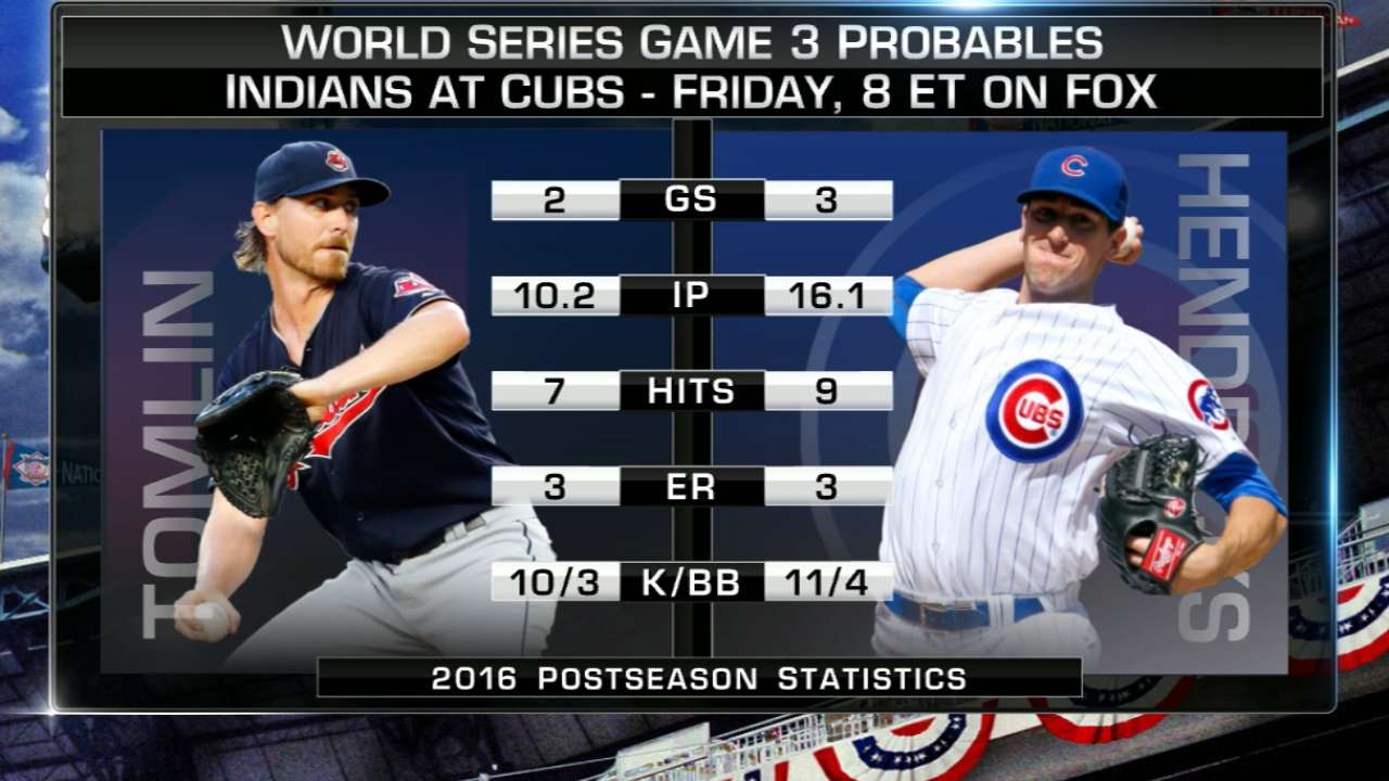 World Series Game 3 starting lineups: Indians vs. Cubs