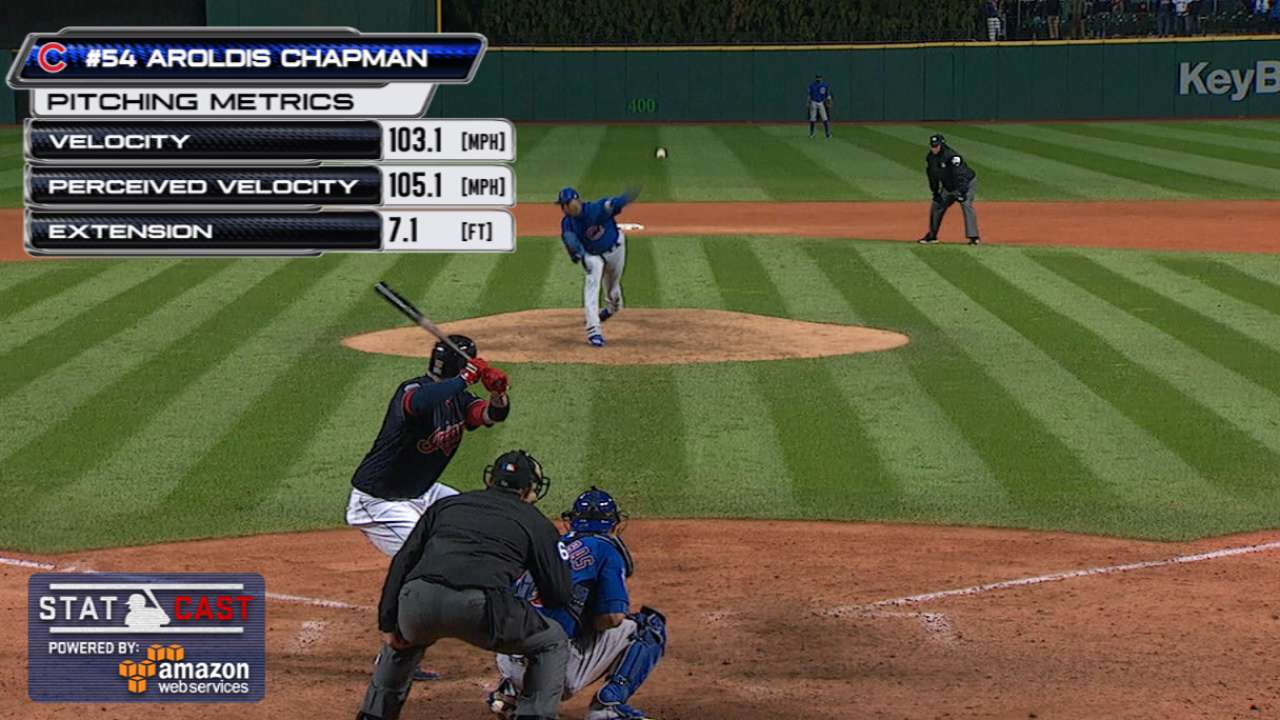 Statcast of the Day: Chapman's World Series heat