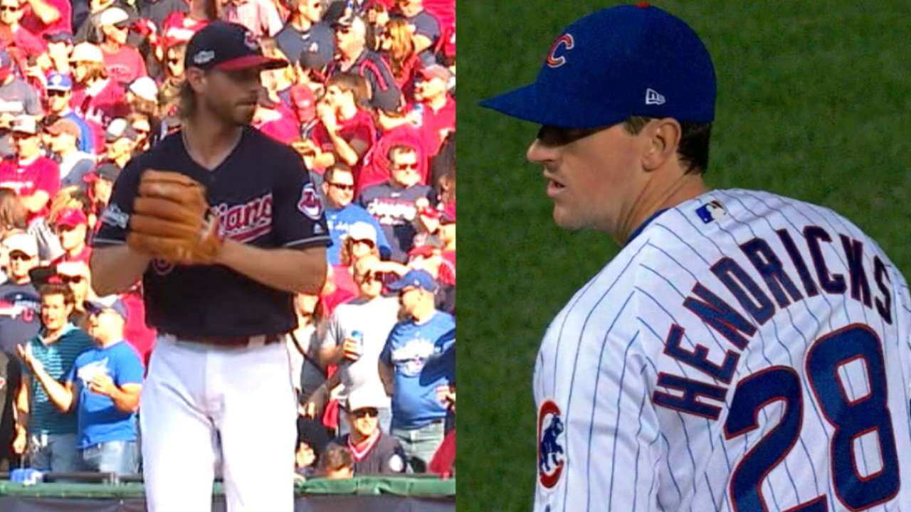 1-1 situation: Tribe-Cubs, pivotal G3 (8 ET, FOX)