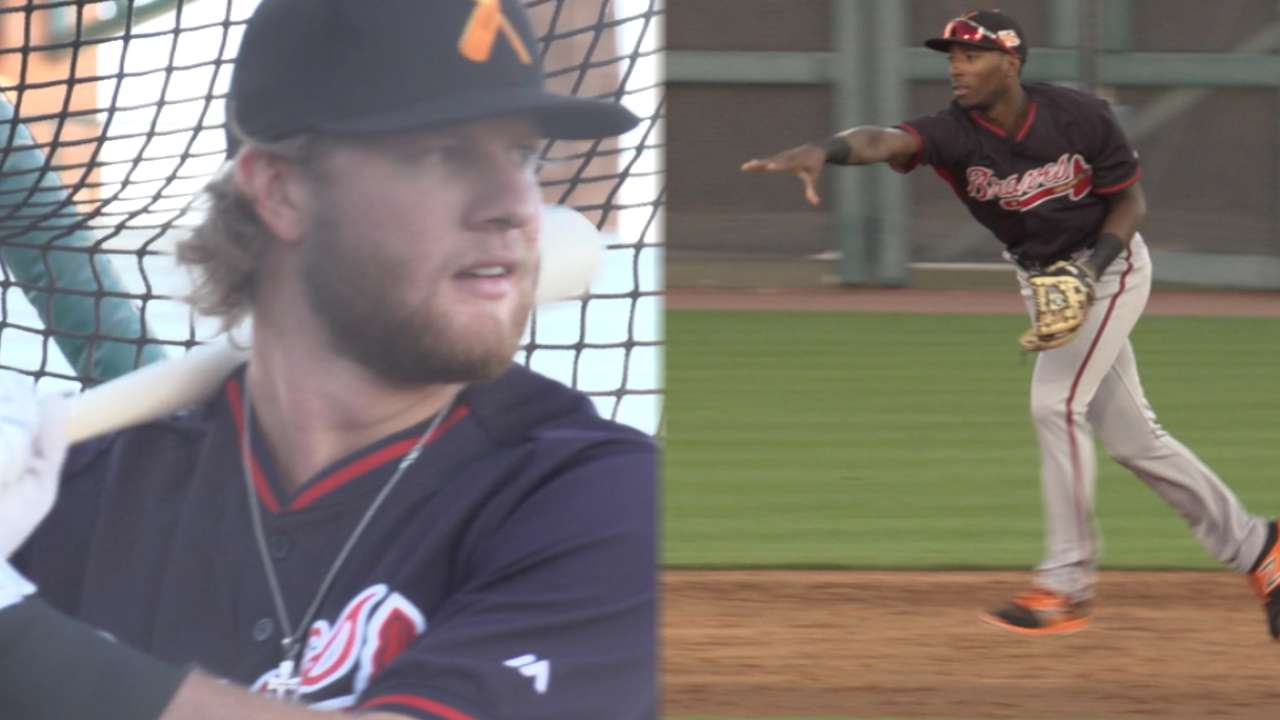 Braves in AFL: Demeritte, Peterson make transitions