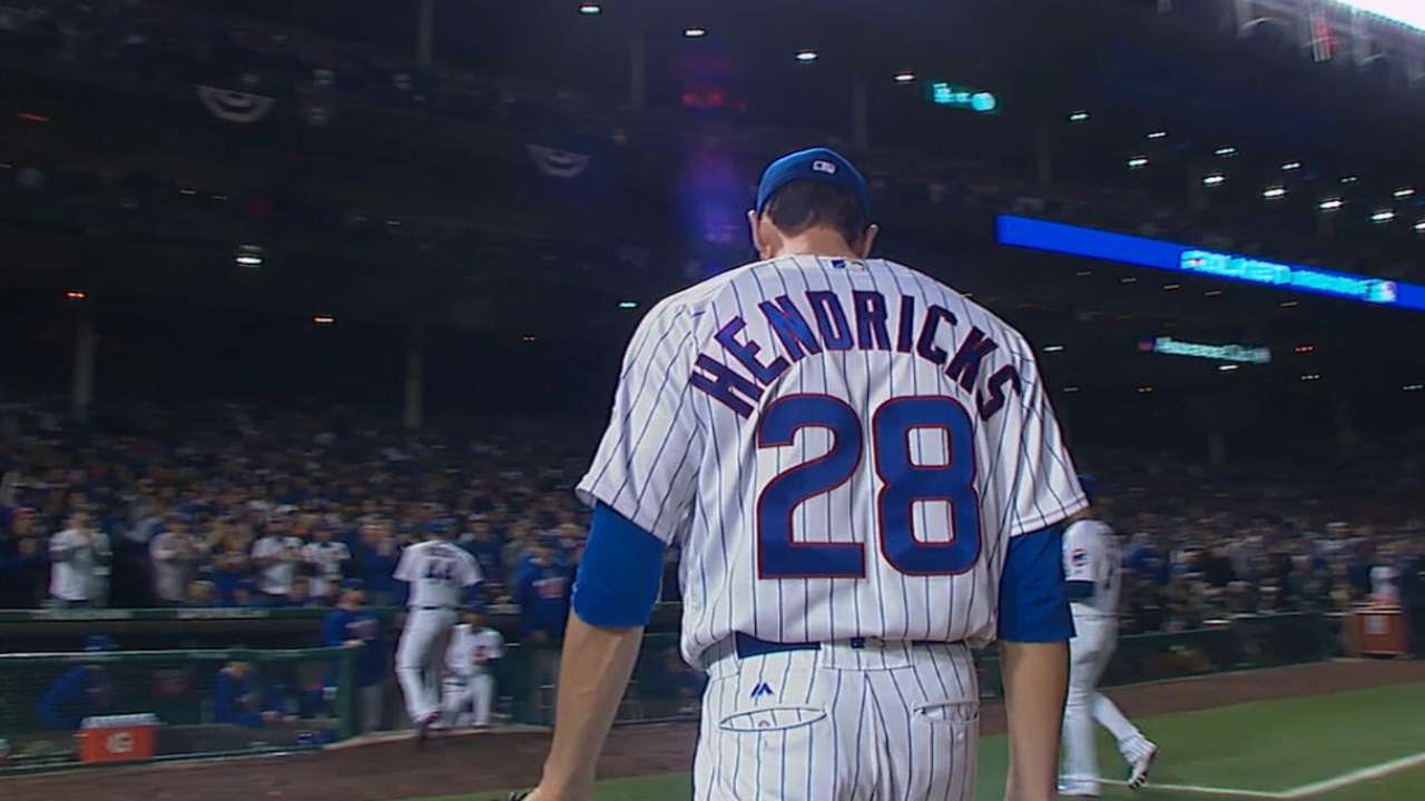 Hendricks on Wrigley Field