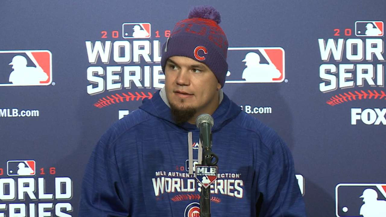 Oct. 27 Kyle Schwarber workout day interview