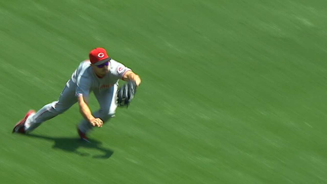 Duvall spectacular in outfield