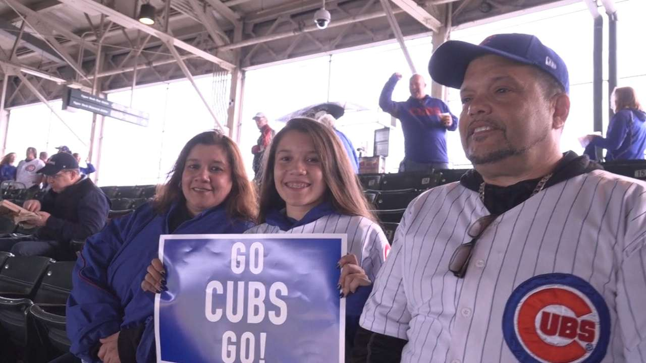 Cubs' Fan of Year Adorno experiences Series