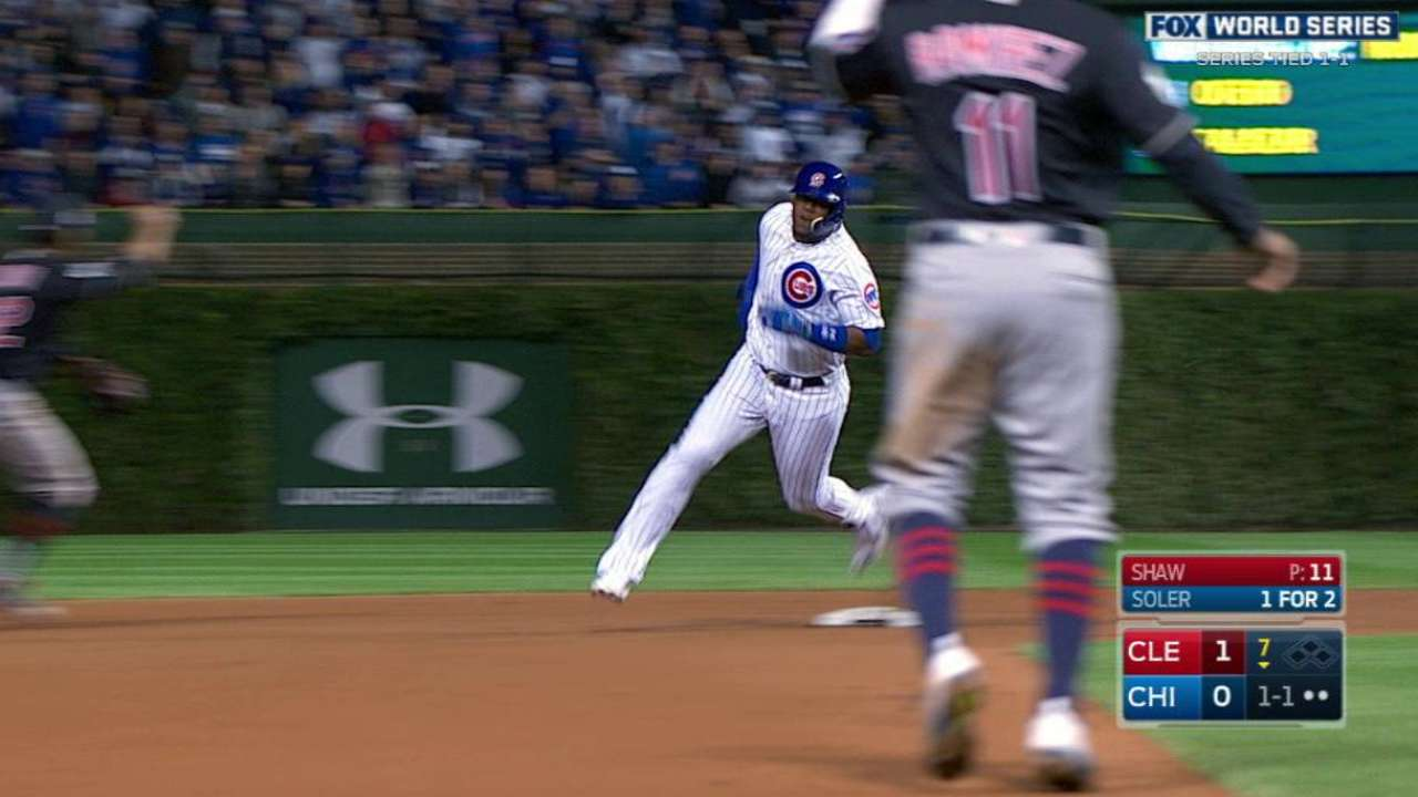 Safe at home? Soler had no chance to turn triple into homer