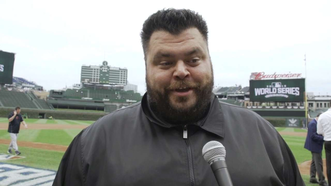 Vincent on singing at Wrigley