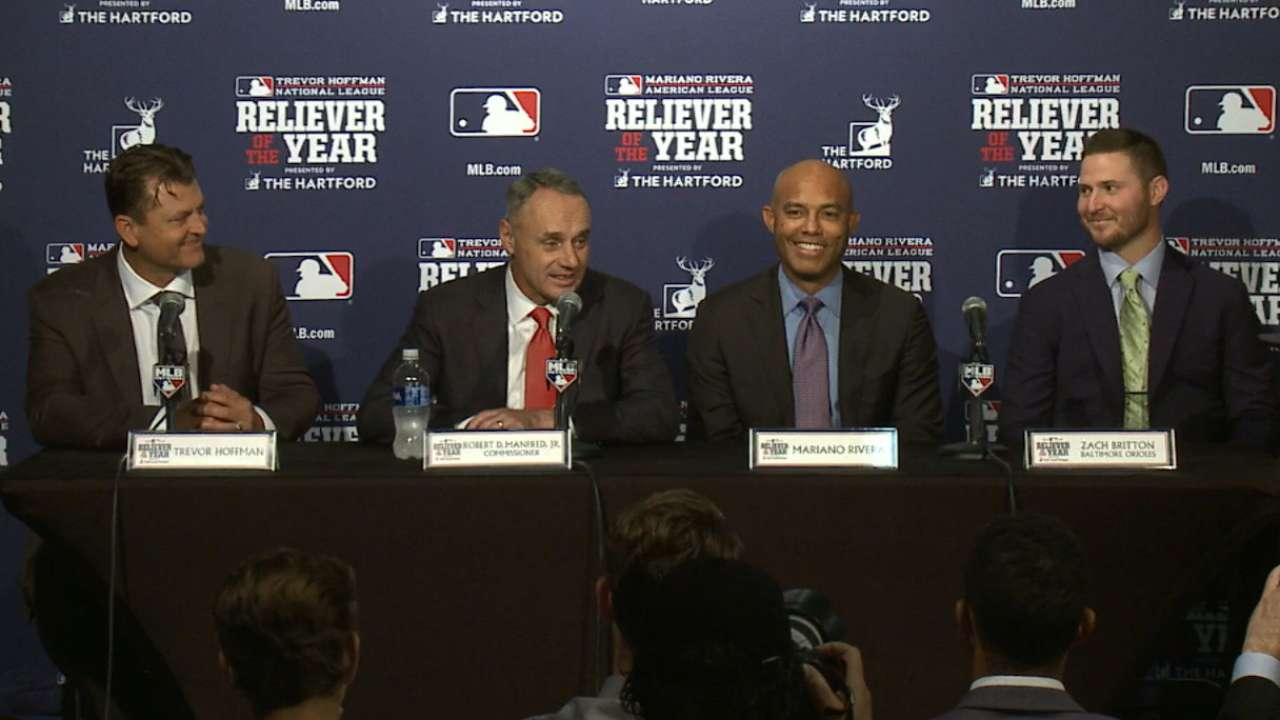 Oct. 29 Relievers of the Year presentation