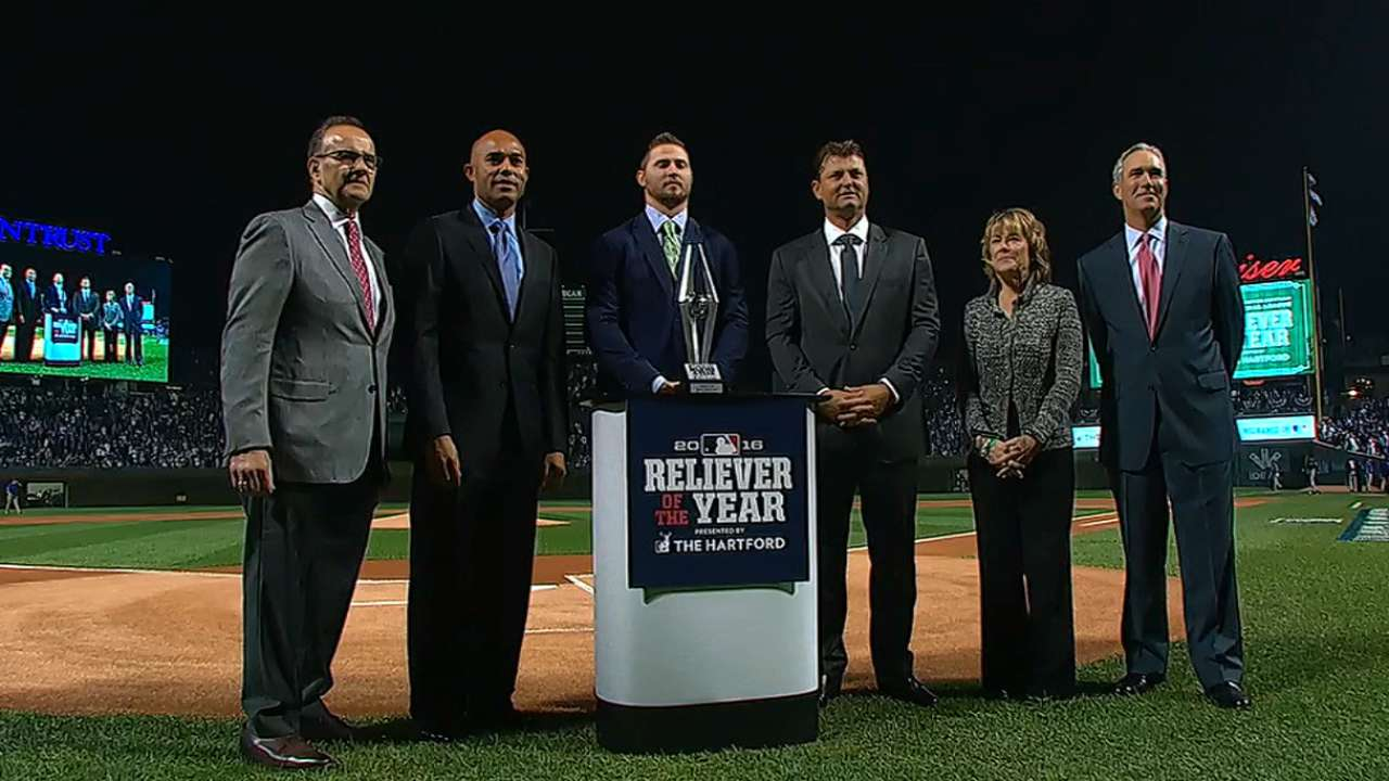 Britton collects Reliever Award