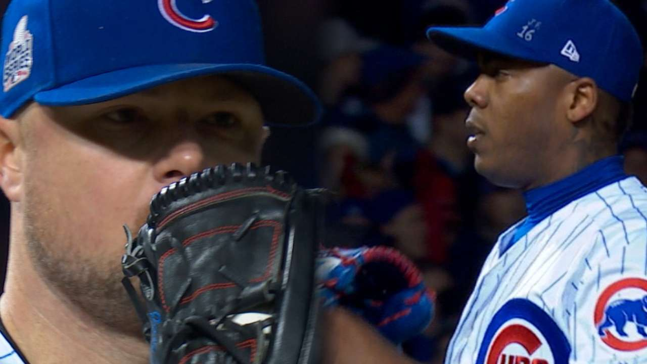 Lester, Chapman keep Cubs alive