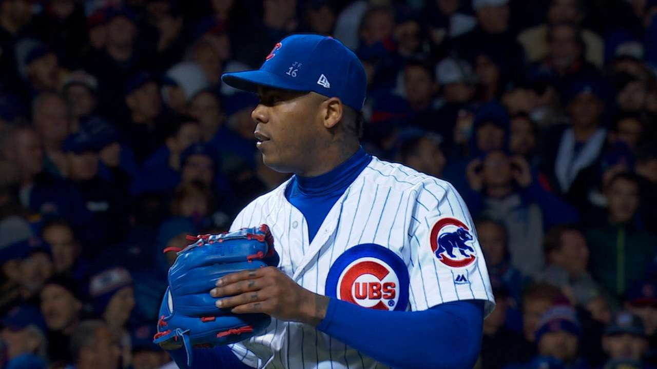 Throw Cub, throw: Chapman gets 8 outs