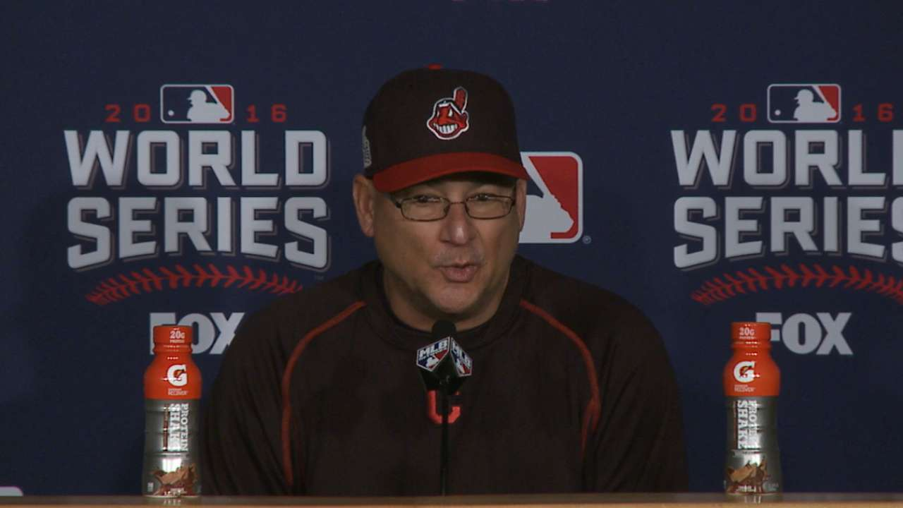 Oct. 31 Terry Francona workout day interview