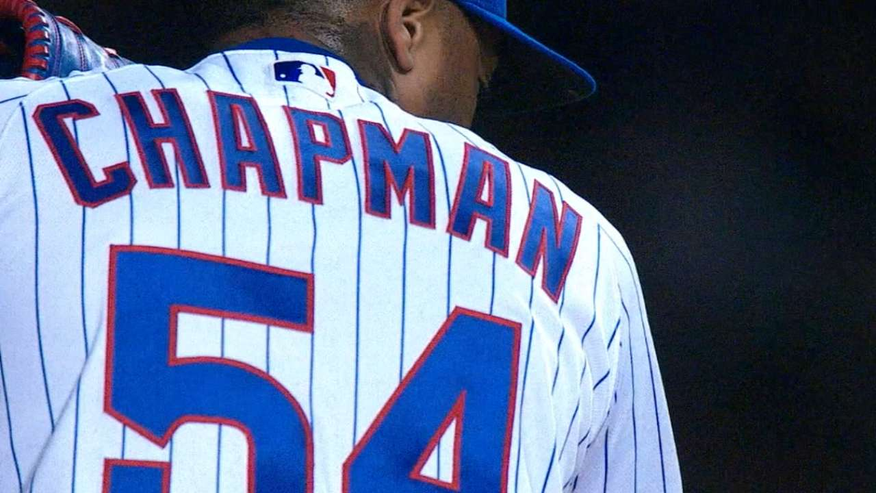 Maddon on Chapman's availability