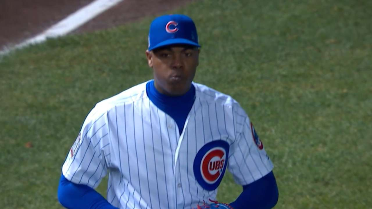 Focused Chapman gets the job done for Cubs