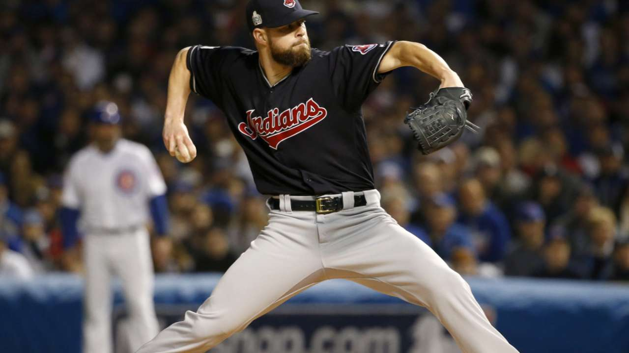 Kluber on elimination game